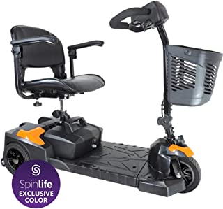 Drive Medical Scout Compact Travel Power Scooter, 3 Wheel, Orange