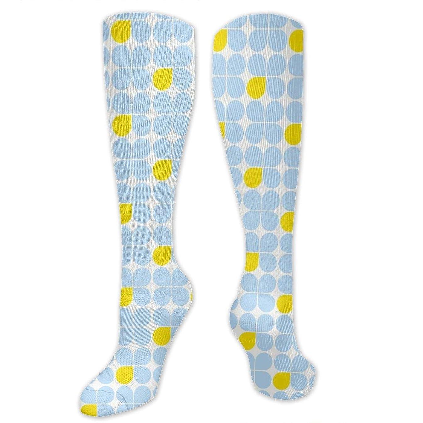 ディスコ忌み嫌う中止します靴下,ストッキング,野生のジョーカー,実際,秋の本質,冬必須,サマーウェア&RBXAA Three-Petal Blue One Yellow Socks Women's Winter Cotton Long Tube Socks Cotton Solid & Patterned Dress Socks