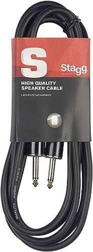 Stagg SSP10PP15 Président Câble Jack-Jack 10 m Noir