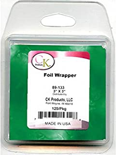 """CK Products Foil Wrappers, 3"""" x 3"""", Green"""