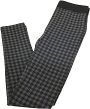 Charlie Paige Plaid Fleeced Lined Leggings - Grey, Large/XLarge