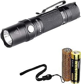 Fenix LD12 2017 Edition 320 Lumens Small EDC LED Flashlight with Fenix AA and LumenTac AA Battery