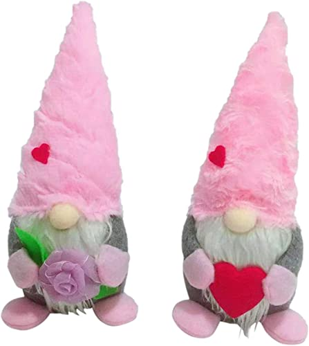"""high quality Mother's Day Gnome Stuffed Plush Gnome Holiday Spring Decorations Handmade Gnome Plush Doll outlet sale Decorations wholesale Mr & Mrs Gnome Figurines Collections Table Decoration Ornaments Home Decor Gift for Mom, 9"""" outlet sale"""