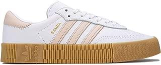 adidas Womens Originals Sambarose Trainers Sneakers in Footwear White/Linen.