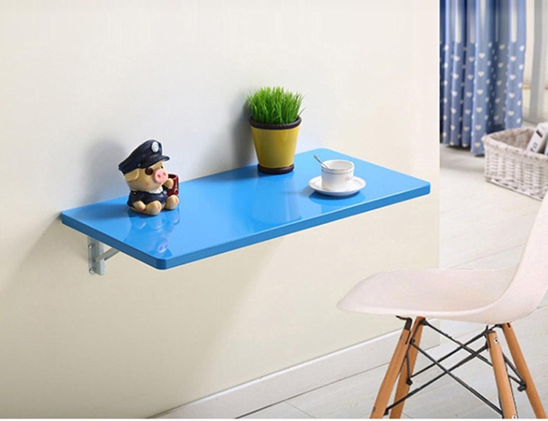entrega rápida The taste of home Mesa Mesa Mesa Moderna Simple para Colgar en la Parojo Mesa de Ordenador Pintada Mesa Plegable, tamaño múltiple Opcional, Azul (Talla   90  50cm)  gran descuento
