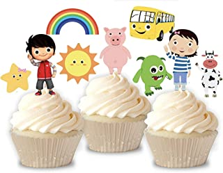 Inspired Little Baby Bum Cupcake Toppers/Boy or Girl/Birthday Cupcake Toppers/CHARACTER CUPCAKE PICKS / 12 FULLY ASSEMBLED TOPPERS/READY TO SHIP