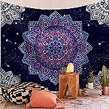 WERT Tapiz de Mandala Indio Sun Moon Hippie Alfombra de Granja Dormitorio decoración Interior Tapiz A1 130x150cm