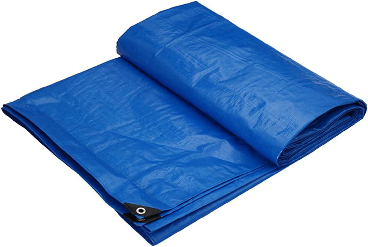 CHAOXIANG Tarpaulin Tent Thicken Foldable DoubleSided Waterproof ColdResistant Shade WearResistant Lightweight AntiCorrosion PE blueee, 175g m2, Thickness 0.32mm, 10 Sizes