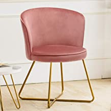 Duhome Accent Chair Vanity Chair Home OfficeMid-Century Modern Upholstered Leisure Club Dining Chairs Velvet Cushion for L...