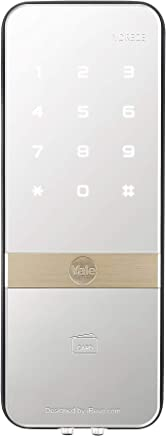 Fechadura Digital para Vidro Porta Simples, Preto/Prata, Yale 05391001-9, YDG 313 - Porta Simples