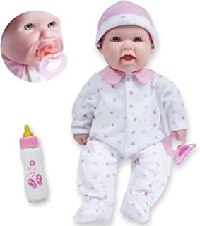 JC Toys - La Baby   Caucasian 16-inch Medium Soft Body Baby Doll   Washable   Removable Pink Outfit w/ Hat and Pacifier   ...