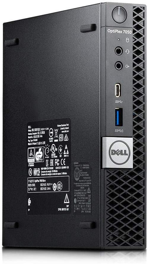 Dell Optiplex 7050 Micro Form Factor Desktop, Intel i5 7500T 2.7Ghz, 8GB DDR4, 512GB NVMe M.2 SSD, Wi-Fi, HDMI, Windows 10 (Renewed)