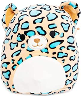 "Squishmallow Kellytoy 5"" Mini Liv The Teal Leopard Plush Doll"