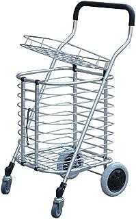 LQBDJPYS Large Aluminum Alloy Foldable Portable Cart with Lid Sponge Handle Intimate Basket Buckle Folding Luggage Bags