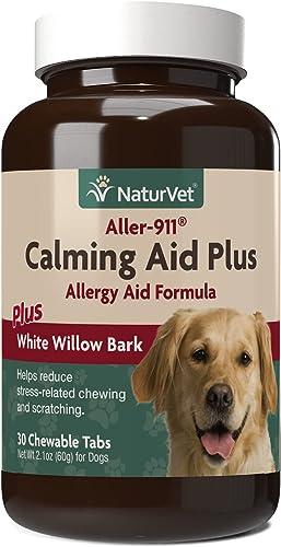popular NaturVet Aller-911 discount Calming Aid & popular Allergy Aid Dog Supplement – Helps Reduce Stress, Minimize Seasonal Allergy Symptoms, Tension, Excessive Scratching - Includes Melatonin – 30 Ct. online sale