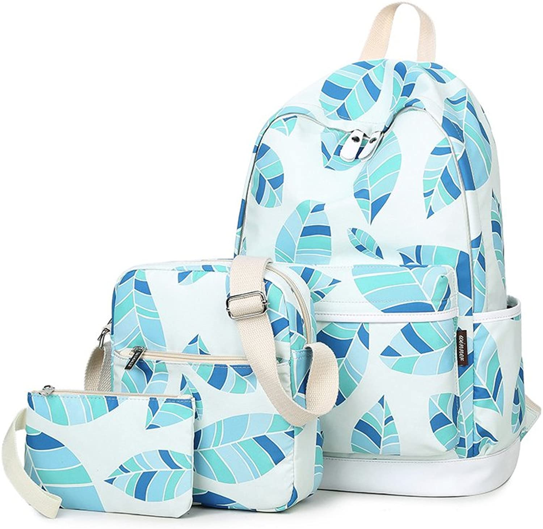 Yvonnelee Canvas Schulrucksack Schultasche Stifteetui Set für Schule Jugendliche Jungen Mädchen Jungs Damen Rucksack Daypack mit Umhängetasche Kosmetiktasche für Freizeit Outdoor Groß Fächer B06Y5PC1C2   Produktqualität