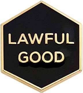 Pinsanity 'Lawful Good' Enamel Lapel Pin