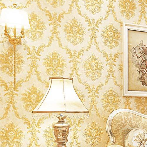Papel Pintado Pared 3D Tela No Tejida Flores Dormitorio Cocina Salon Pasillo Pared De Fondo Hotel Comedor Decoración Tienda De Ropa Sin Pegamento 0.53 * 9.5 M