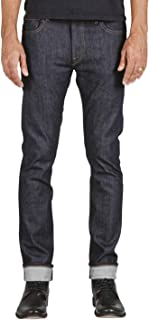 Jeans Men's The Needle Skinny Raw 10.5 oz 4-Way Stretch Selvedge Denim Skinny Fits Made in USA