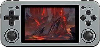 Consola de juegos de mano, RG351M Metal Retro Game Console Linux, RK3326 con 2500 juegos, pantalla IPS de 3,5 pulgadas clá...