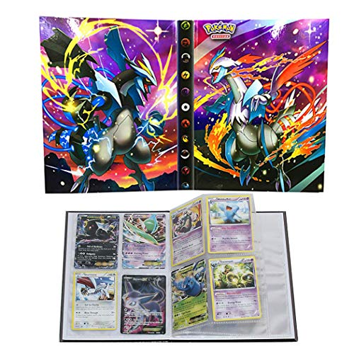Trading Cards Album Book Best Protection Cards Binder Cards Holder Album for Pokemon - GX EX Box (Pearl Cover)
