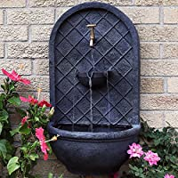 Outdoor Wall Fountain Sunnydaze Messina Garden Wall Mounted Water Feature