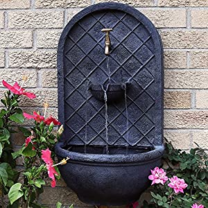 Outdoor Wall Fountain Sunnydaze Messina Garden Wall Mounted Water Feature