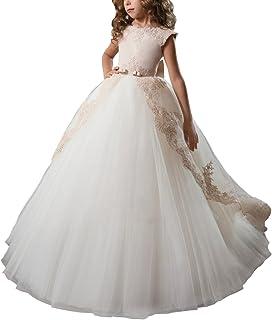 AbaoSisters DRESS ガールズ US サイズ: 10 カラー: ベージュ