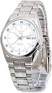 Series 5 Automatic Date-Day White Dial Men's Watch SNK559J1