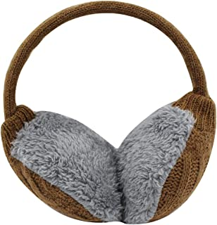HOBULL Womens Winter Earmuffs Cute Smiling Stars Soft Ear Warmer for Outdoor