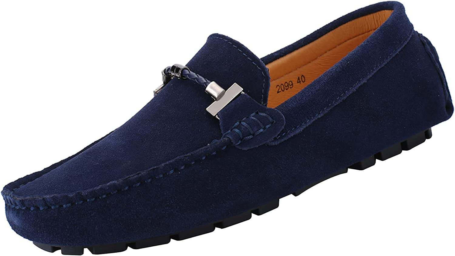 Limited price yldsgs Flat Loafer for Men Suede 67% OFF of fixed price M Leather Driving Dress Slip-on