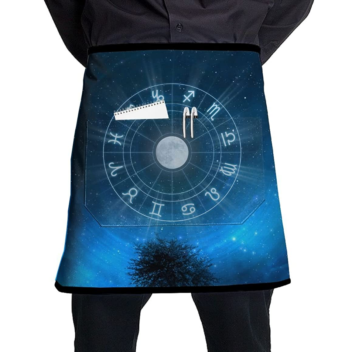Zodiac Signs Men And Women Kitchen 3D Apron For Cooking, Baking, Crafting, Gardening, BBQ-Navy & Cream