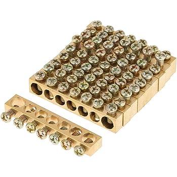 en laiton borne /à vis en laiton neutre barre de vis 10pcs Fil de distribution /électrique /à 10 trous solide mise /à la terre durable