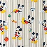 Disney Sport Mickey 1 beige — Meterware ab 0,5m — zum