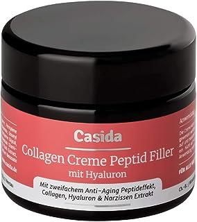 Casida - La Crema de Colágeno - hidratante antienvejecimiento y antiaruggas - con ácido hialurónico Syn-Ake y extracto de...