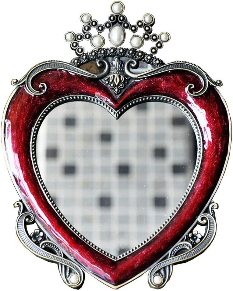 l lei shop Portable Mirror Beautiful Single Minneapolis Ranking TOP20 Mall Retro Heart-