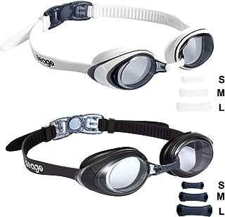 Seago Swim Goggles 2 Pack Updated Swimming Goggles...