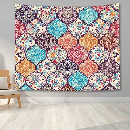 KHKJ Tapiz Indio Hippie Mandala tapices para Colgar en la Pared para Dormitorio decoración del hogar Flor psicodélica Manta de Pared decoración de Dormitorio A1 230 * 180 cm