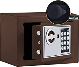 JUGREAT Safe Box with Induction Light,Electronic Digital Securit Safe Steel Construction Hidden with Lock,Wall or Cabinet ...