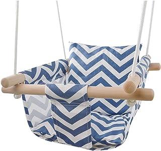GBHJJ Baby gunga Indoor, duk gungstol kranar, med mjuk rucckleje, småbarn barnkammare dekor universell födelsedagspresent,...