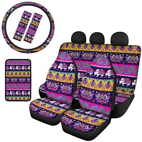 LedBack Front Rear ! Super beauty product restock quality top! Bench Seat Design Elephant St Super sale period limited CoversMandala 1