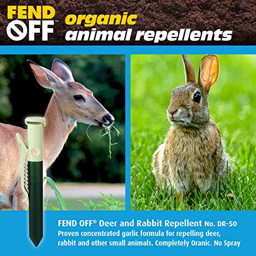 Luster Leaf Products Fend Off DR-50 Deer and Rabbit Repellent Plant Clips, 50pk – Green