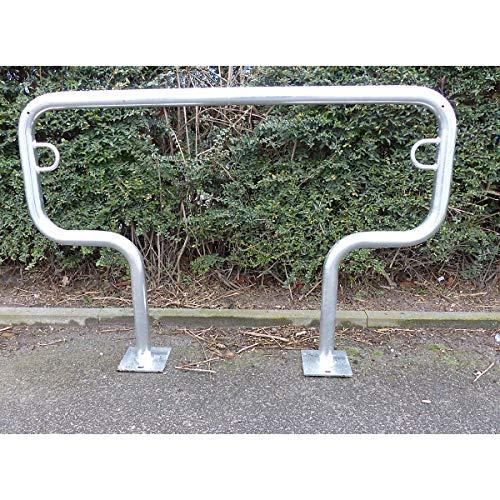 Arceau range-vélos 850 mm hors sol - à cheviller, galvanisé à chaud - en forme de T, longueur 1250 mm - Etrier Support cycles Support pour bicyclettes Support pour cycles Supports cycles Range-vélos Support-cycles Supports-cycles