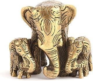 Indianshelf Handmade Brass Elephants Motherchild Statues Decoration Designer Vintage Statement Pieces Online New