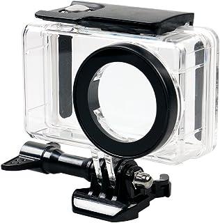 flycoo funda cubierta impermeable para Xiaomi mijia 4K Mini cámara de acción claro con tornillo de fijación y Base