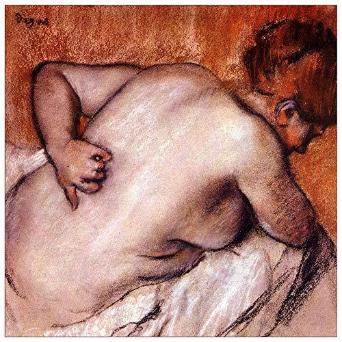 ArtPlaza Degas Edgar-Womans bakplaat, MDF, meerkleurig, 70 x 70 cm