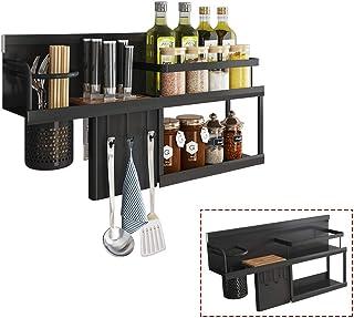 YJKDM Support à épices, Support de Rangement à épices Double Couche Mural de Cuisine, Couteaux de Cuisine Multifonctions/B...