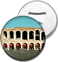 Weekino Imán de refrigerador Italia Verona Arena Piazza Cerveza Abrebotellas Viajar Recuerdo Colección Etiqueta engomada Fuerte del refrigerador Regalo