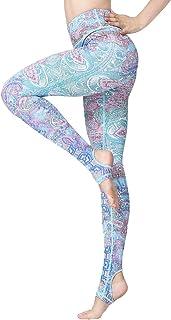 Witkey Printed Yoga Pants for Women, High Waist Stirrup Yoga Leggings 4 Way Stretch