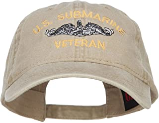 e4Hats.com US Submarine Veteran Military Embroidered Washed Cap